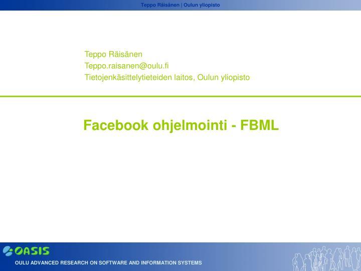 facebook ohjelmointi fbml n.