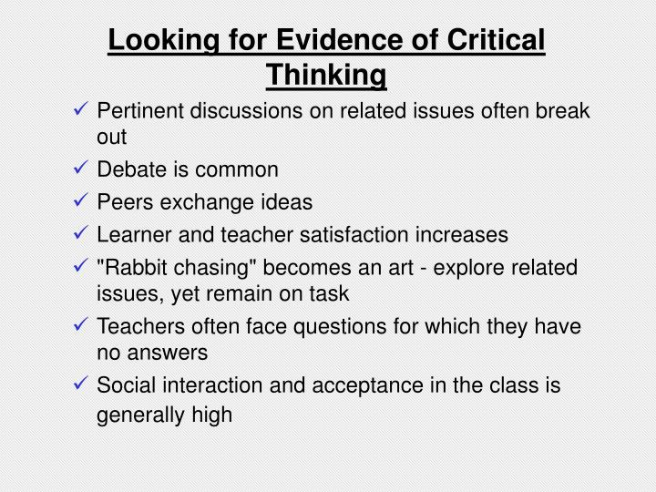 higher order critical thinking skills Abstract—higher order thinking skills is an important aspect in teaching and learning especially at higher education institutions thinking skills practices are part of the generic.