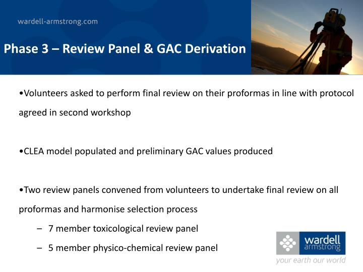 Phase 3 – Review Panel & GAC Derivation