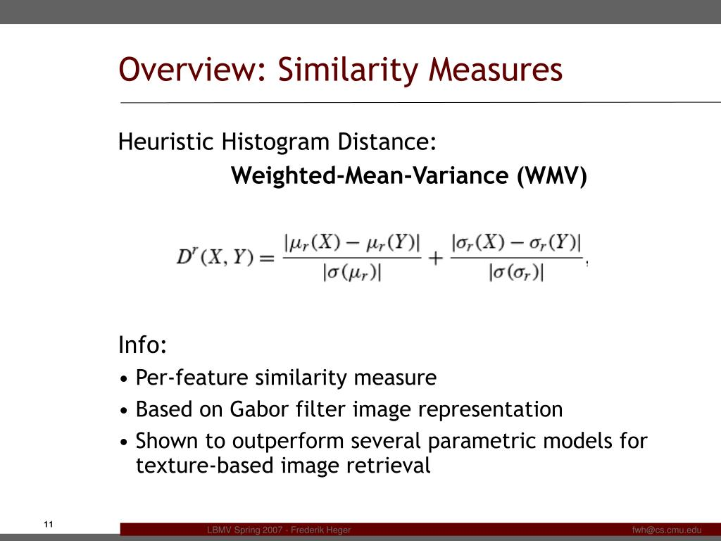 PPT - Image Similarity and the Earth Mover's Distance