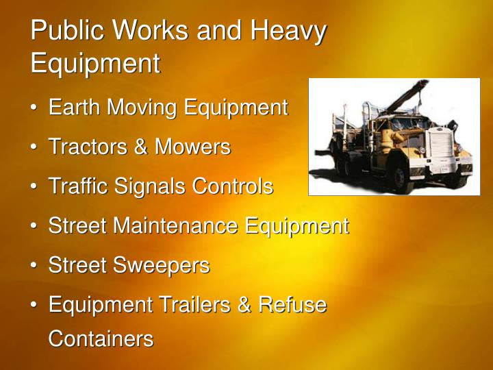 Public Works and Heavy Equipment