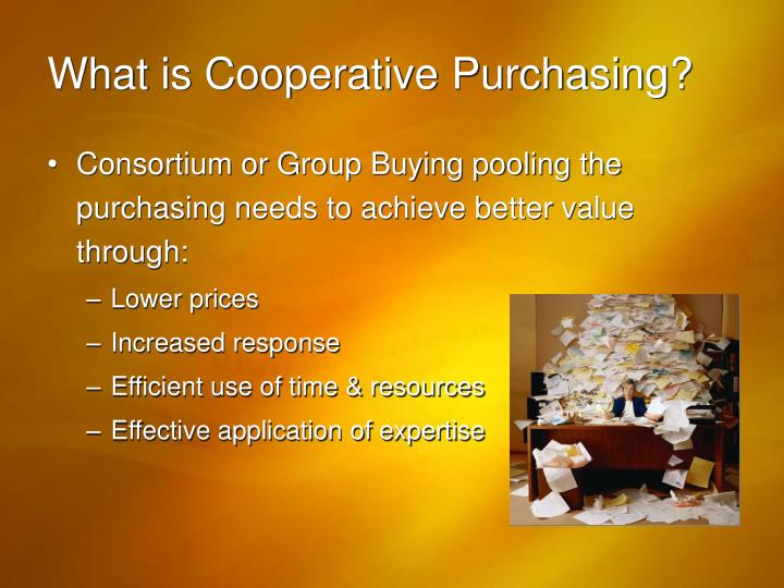 What is cooperative purchasing