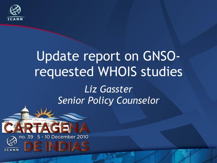update report on gnso requested whois studies n.