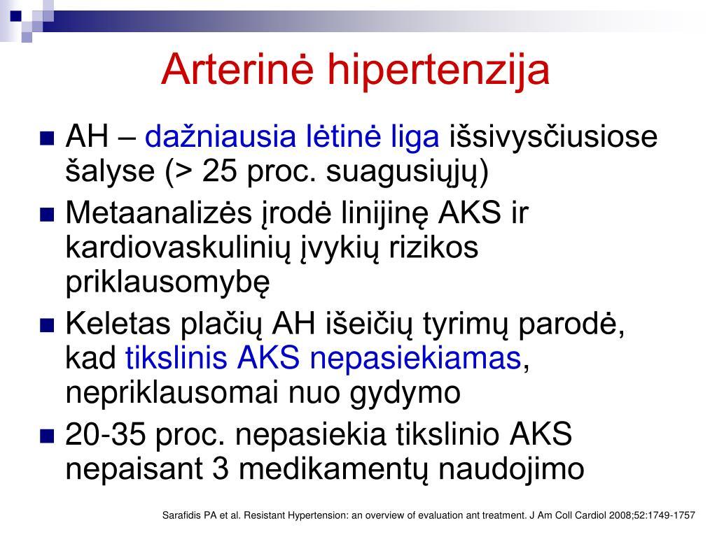 hipertenzija nėra hospitalizuota)