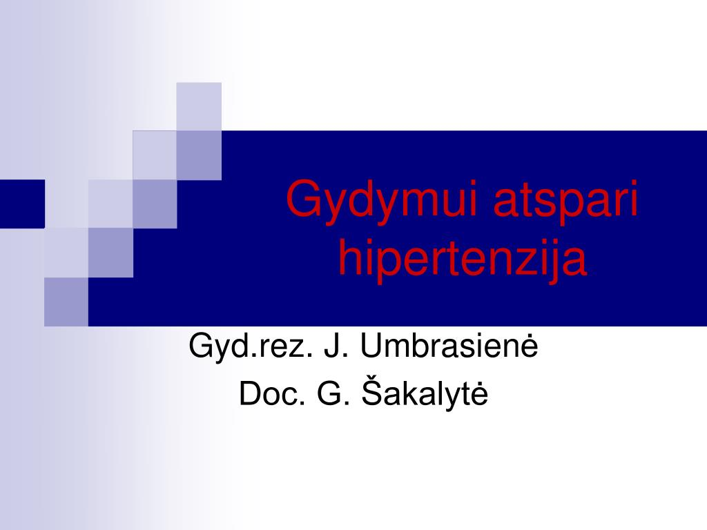 atsparios hipertenzijos gydymas