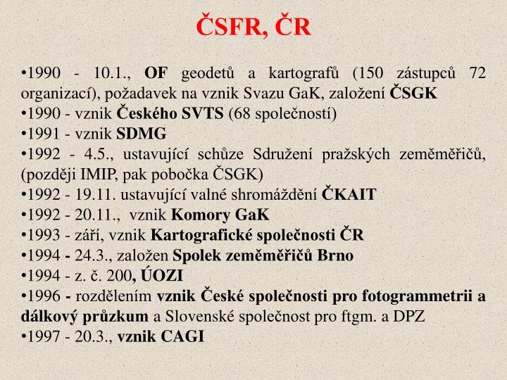 ČSFR, ČR