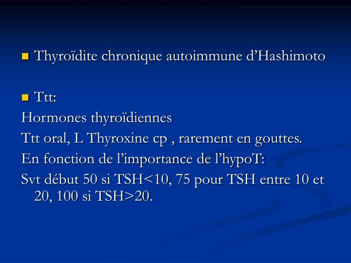 Thyroïdite chronique autoimmune d'Hashimoto