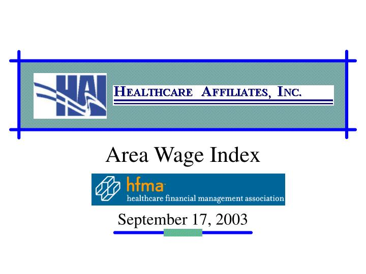 area wage index n.
