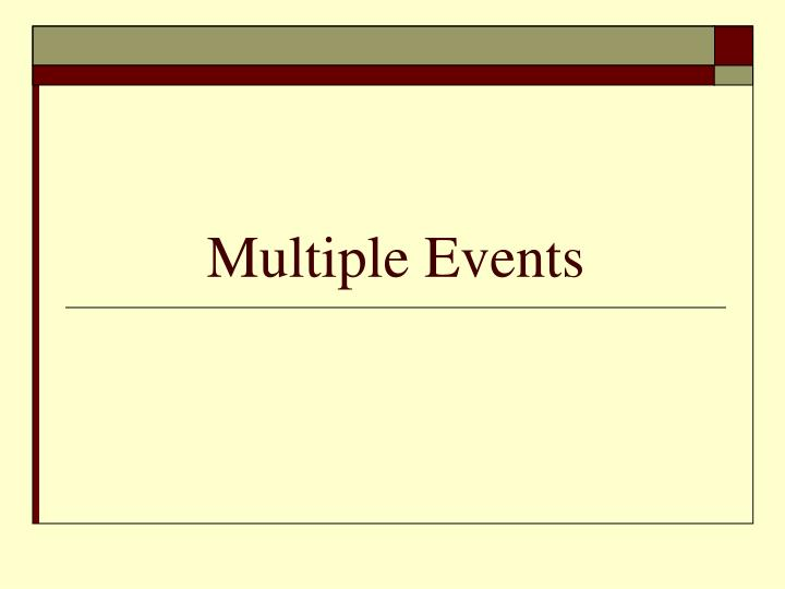 multiple events n.