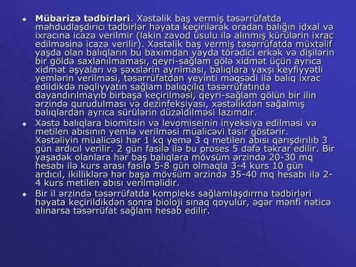 Mübarizə tədbirləri