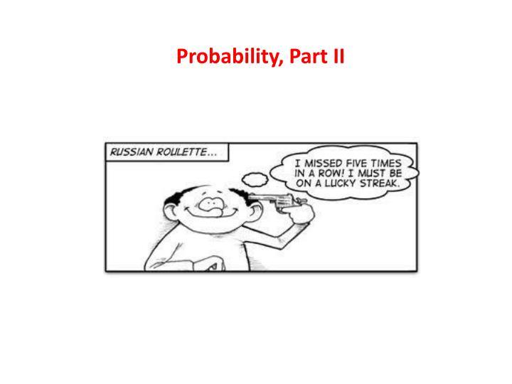 probability part ii n.