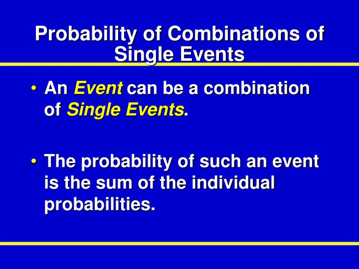 Probability of Combinations of Single Events