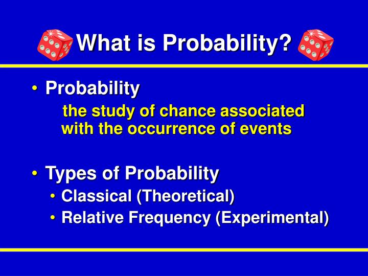 What is Probability?