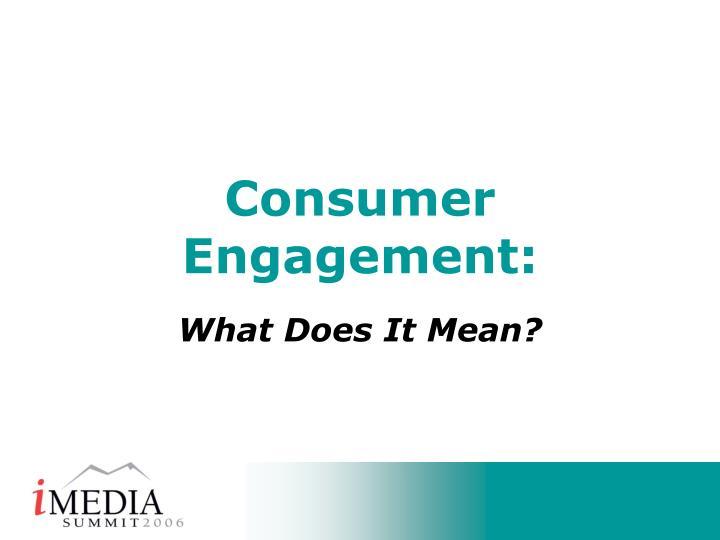 consumer engagement n.