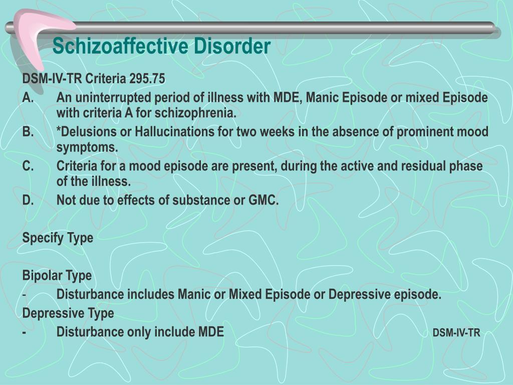 PPT - DSM-IV TR Schizophrenia & Other Psychotic Disorders ...