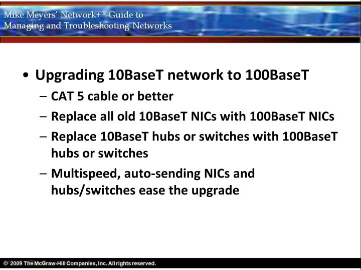 Upgrading 10BaseT network to 100BaseT