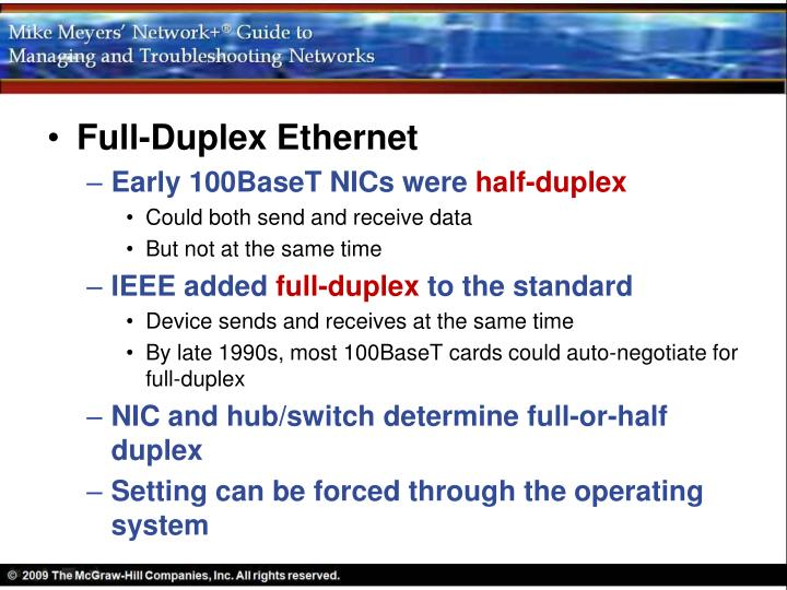 Full-Duplex Ethernet