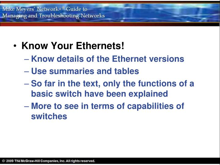 Know Your Ethernets!