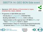 sbstta 14 geo bon side event
