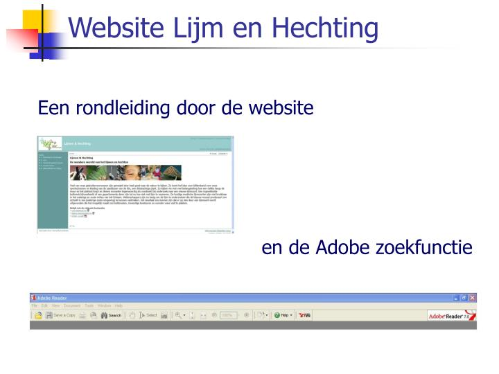 Website lijm en hechting
