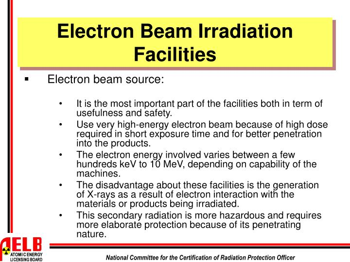 Electron Beam Irradiation Facilities