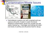 contamination waste issues