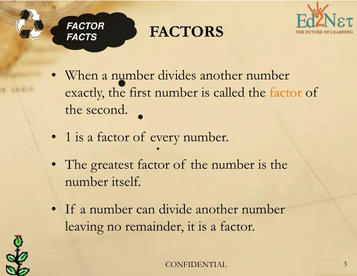 FACTOR FACTS