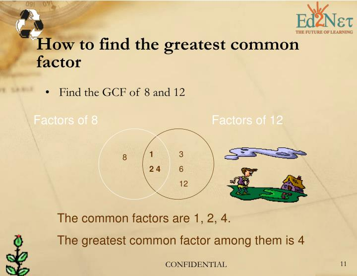 How to find the greatest common factor