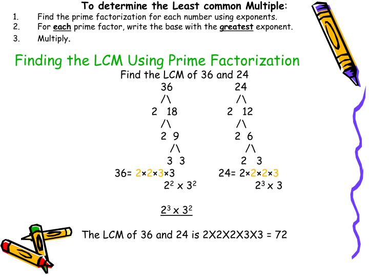 how to find lcm In this lesson you will learn how to find the least common multiple of two or more  numbers by creating and comparing a list of multiples for.