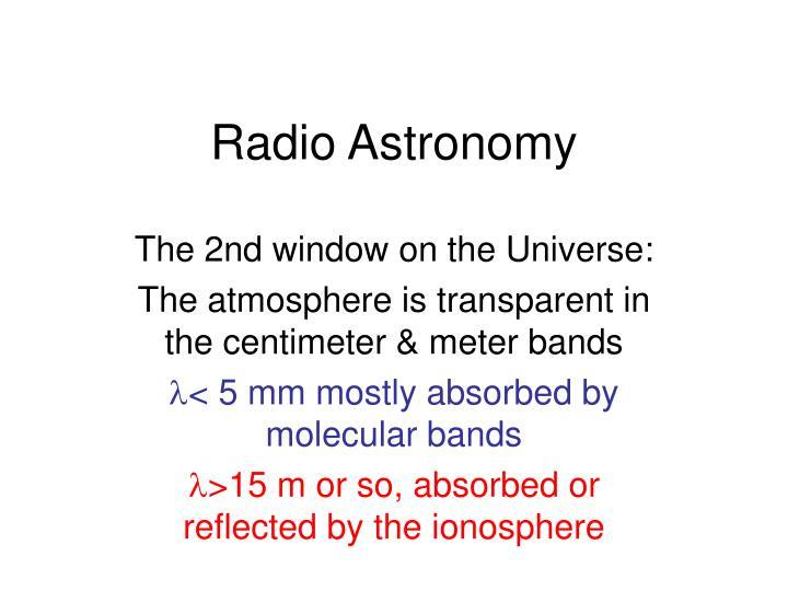 radio astronomy n.