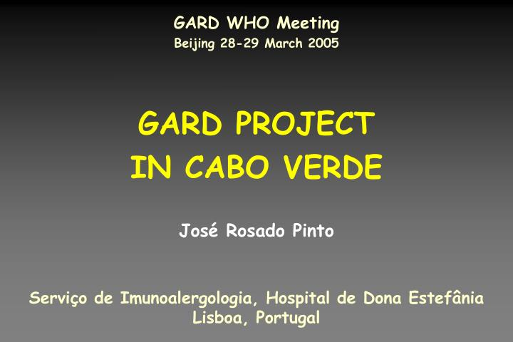 gard project in cabo verde n.