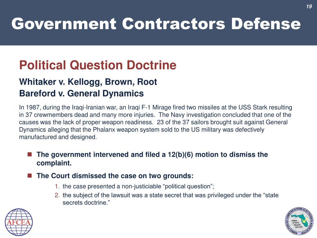 PPT - Government Contractors Defense PowerPoint Presentation