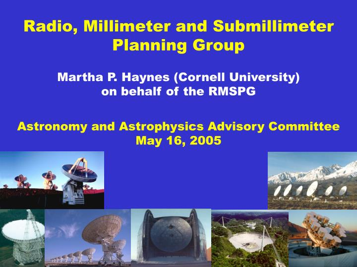 radio millimeter and submillimeter planning group n.