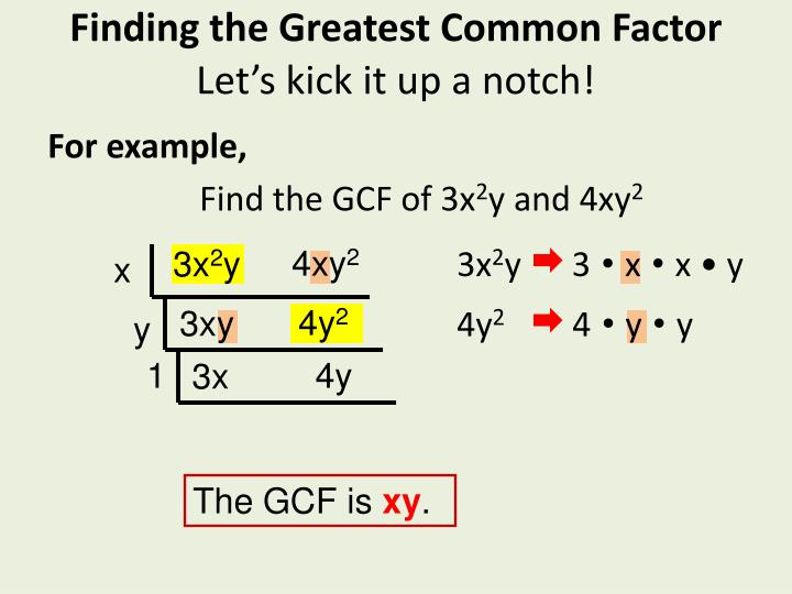Ppt 5 2 Greatest Common Factor Powerpoint Presentation