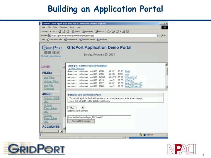 Building an Application Portal