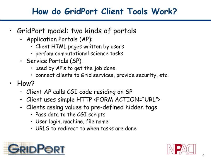 How do GridPort Client Tools Work?