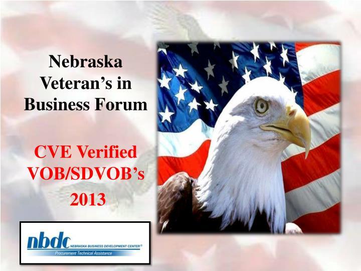 nebraska veteran s in business forum n.
