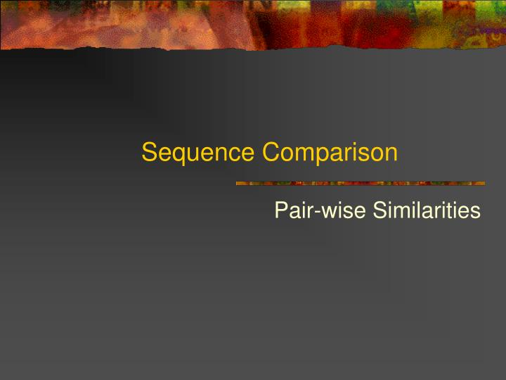 sequence comparison n.