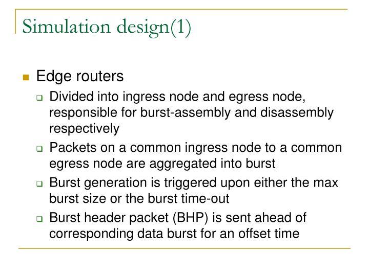 Simulation design(1)