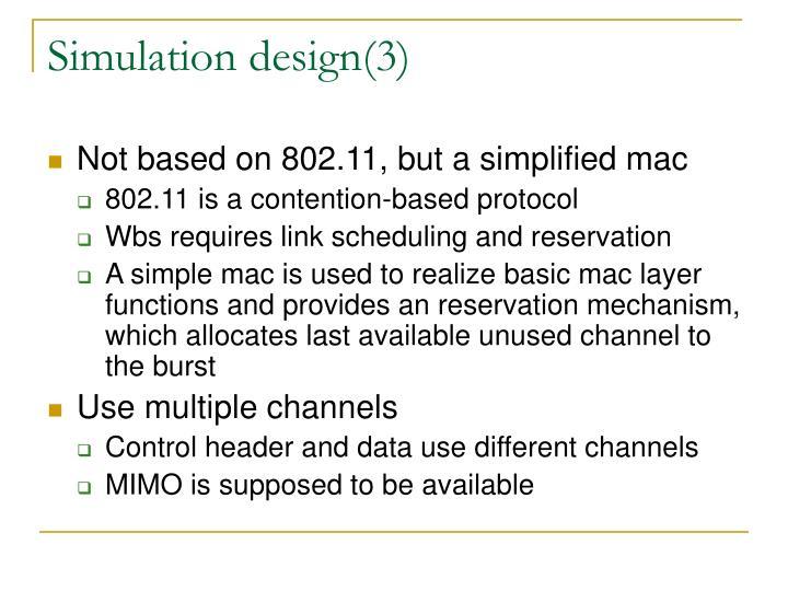 Simulation design(3)