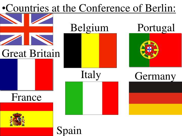 Countries at the Conference of Berlin:
