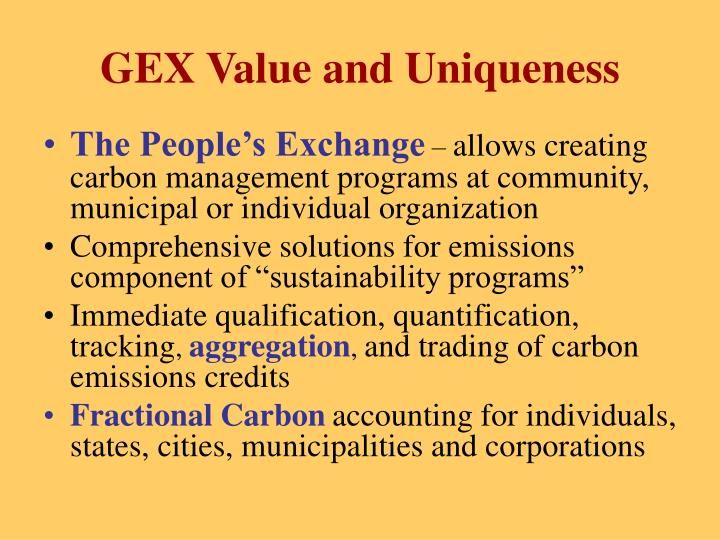 GEX Value and Uniqueness