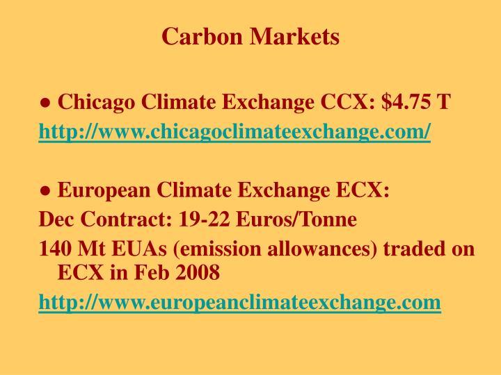 Chicago Climate Exchange CCX: $4.75 T