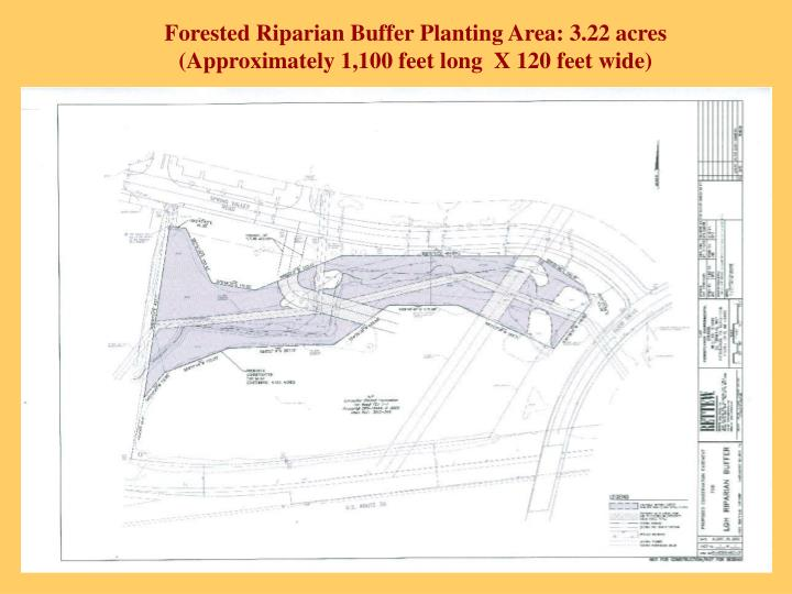 Forested Riparian Buffer Planting Area: 3.22 acres