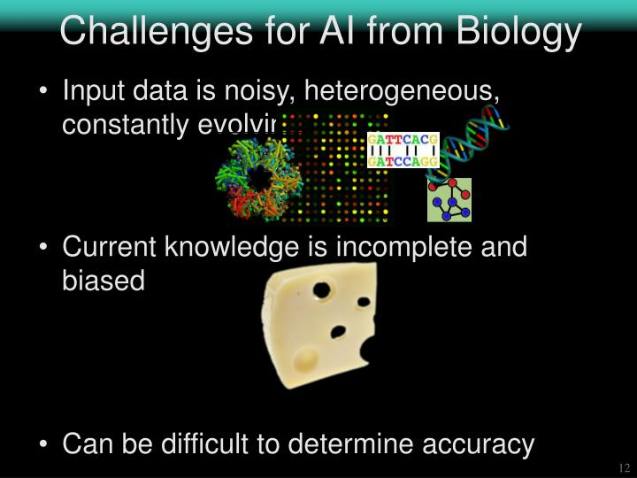 Challenges for AI from Biology