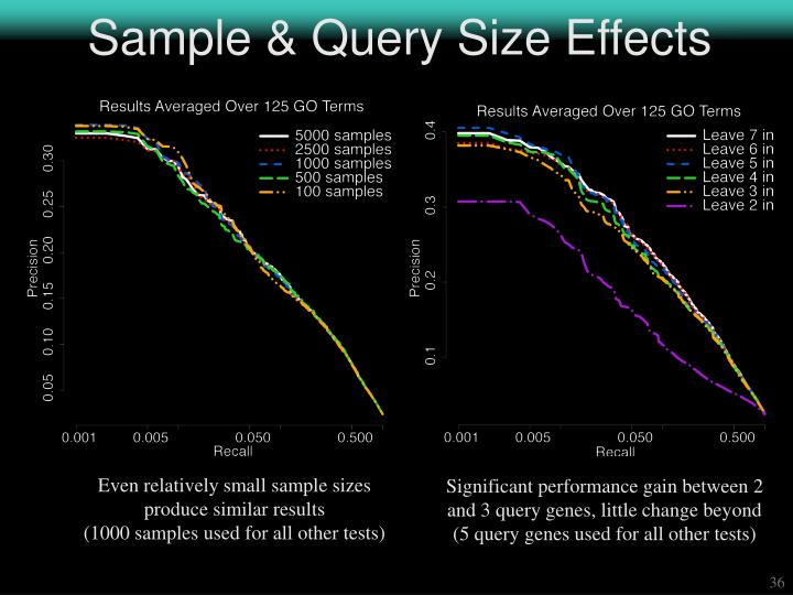Sample & Query Size Effects
