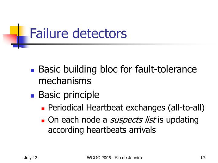 Failure detectors