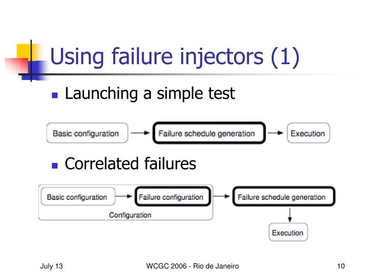 Using failure injectors (1)
