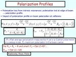 polarization profiles