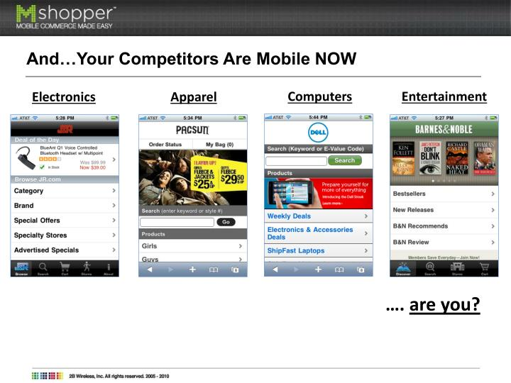 And…Your Competitors Are Mobile NOW